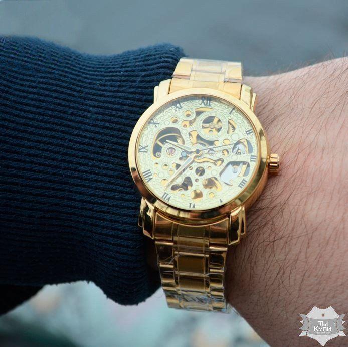 10d42c496438 Мужские часы скелетон Winner BestSeller New (1122)