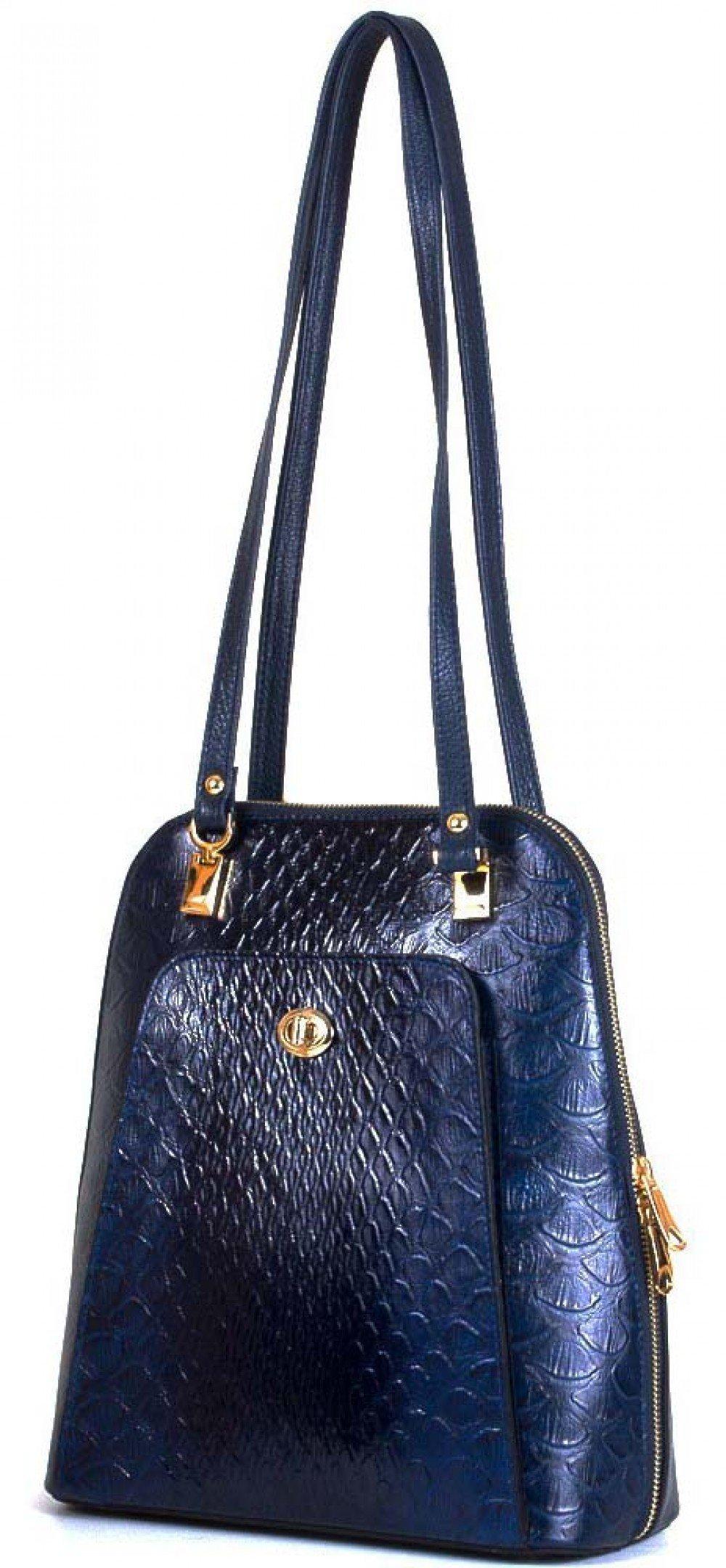 09d27915dba6 Женская кожаная сумка-рюкзак DESISAN SHI3132-6KR