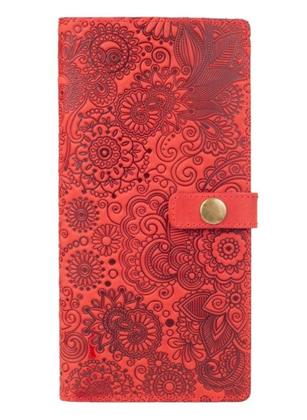 Тревел-кейс из кожи Hi Art TC-01 Shabby Red Berry Mehendi Art купить недорого в Ты Купи