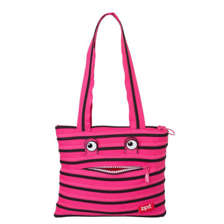 Сумка ZIPIT MONSTERS Tote / Beach Beach Pink Begonia & Black Teeth (ZBZM-2) купить