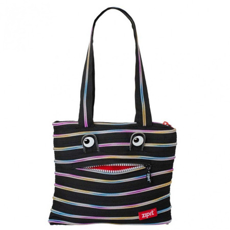 Сумка ZIPIT MONSTERS Tote / Beach Black & Rainbow Teeth (ZBZM-1) купить